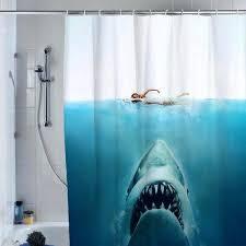 shark jaws shower curtain custom shower from on shark shower curtain shark jaws shower curtain custom shower curtain giraffe riding shark shower curtain uk