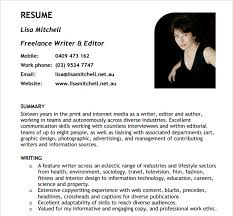 Resume Samples Pdf Fascinating 40 Writer Resume Templates Free PDF Word Samples
