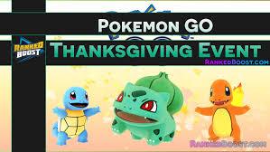 Pokemon GO Thanksgiving Event Guide • Rewards List