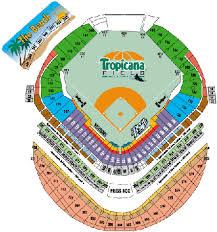 St Petersburg Stadium Seating Chart Tropicana Field Historical Analysis By Baseball Almanac