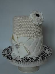 Classy And Elegant Pearl Cake Cakecentralcom