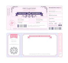 Plane Ticket Wedding Invitation Template Boarding Pass Wedding ...