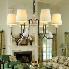 cottage style chandeliers cottage bird chandelier living room stair light black iron retro resin country style