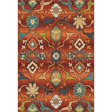 orian rugs punjab red fl bright colors 5 ft x 8 ft indoor area