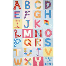 nuloom alphabet boxes multi 4 ft x 6 ft area rug