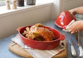 <b>Форма для запекания курицы</b> с крышкой 34 x 24 см Emile Henry ...