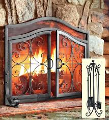 fireplace screens with doors glass door fireplace screens fireplace screens home depot canada