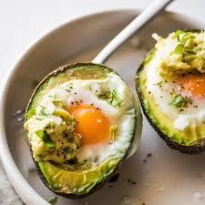 avocado egg bake baked eggs in avocado