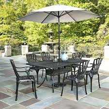 outdoor dining table with umbrella hole large size of dining sets with umbrella patio furniture home