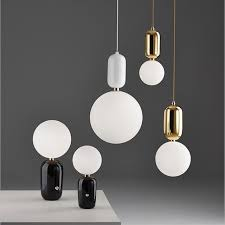 simple white frosted glass ball pendant. Post-modern Parachilna ABALLS Glass Ball Pendant Light For Bedroom Bedside Living Room Dining Simple White Frosted L
