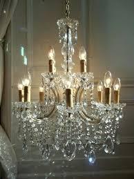 vintage crystal chandelier large french vintage light crystal chandelier