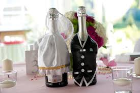 Bride Groom Table Decoration Bride And Groom Table Decoration Centerpiece Dressed Champagne