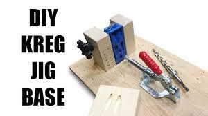 Kreg Jig Different Thickness Diy Kreg Jig Base Youtube
