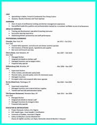 Example Of Chef Resume Template Chef Resume Format Best Of Culinary Arts Example Student 45