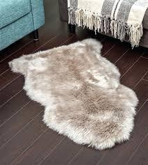 alternative views brown sheepskin rug