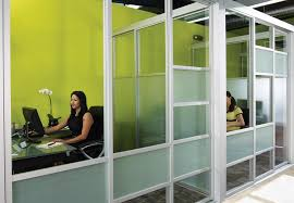 stylish glass office enclosures for coworking spaces room partitions for offices