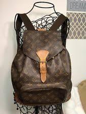 louis vuitton bookbag. authentic louis vuitton montsouris gm monogram canvas backpack shoulder bag tote louis vuitton bookbag