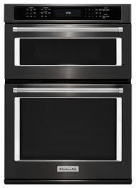 kitchenaid black 27 built in electric double wall oven black stainless steel