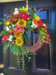 spring wreath for front door1190 best Wreaths for all seasons images on Pinterest  Spring