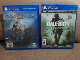 PS4 Call of Duty and God of War games ...
