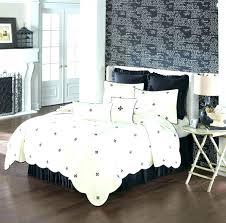 Bedding Sharps Square 3 Piece King Set Crib Fleur De Lis Sets Black ...