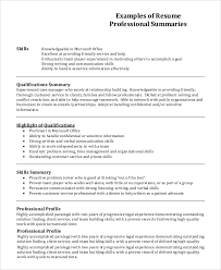 Gallery Of Resume Profile Example 7 Samples In Pdf Word