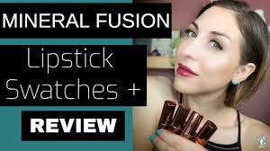 Mineral Fusion Lipstick Swatches And Review