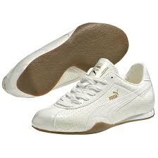 men s puma barnett patent leather street shoes white