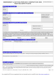 Emergency Lighting Test Sheet Emergency Lighting Certificate Fill Online Printable