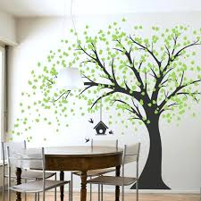 green wall decals large green tree with cage big wall stickers decor for living room large