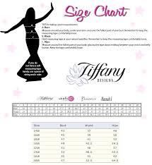 Tiffany Designs Size Chart