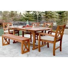wood outdoor dining sets at overstock our best patio furniture deals