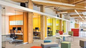 traditional office corridors google. Open Office Layout Combined With Closed Traditional Corridors Google