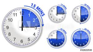 Set Timer For 15 Set Of Blue Timer 15 30 45 And 60 Minutes Isolated On White Buy