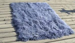 4 x 6 lamb fur rug metallic grey contemporary area rugs by curly imports mongolian white