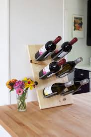 Wine Bottle Storage Angle Diy Modern Wine Rack