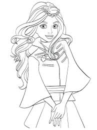 Disney Descendants Mal And Evie Coloring Pages