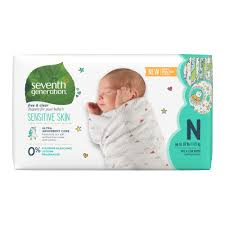Seventh Generation Size Newborn Up To 10 Lbs Baby Diapers