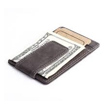 genuine leather money clips men wallet fashion western vintage style design money clip wallets with card slots coin pocket