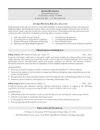 Collection Of Solutions Billing Resume Sample In Sample Gallery