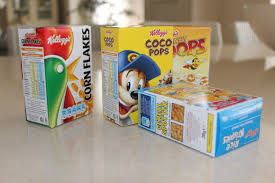 Image result for cardboard cereal boxes