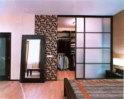 image of modern bedroom closet doors