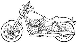 Drawn motorcycle coloring book 10