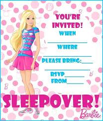 Barbie Birthday Invites Free Printable Invitations Graphics