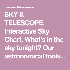 Sky Telescope Interactive Sky Chart Whats In The Sky
