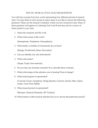 music music of the world s peoples musical identity essay mus 101 musical style analysis questions