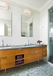 Mid Century Vanity Bathroom Modern with Double Vanity Flush ...