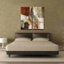 2 piece abstract wall art