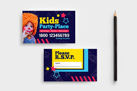 Kids Party Business Card Template In Psd Ai Vector Brandpacks