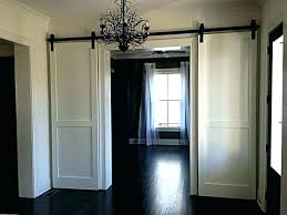 barn door closet doors double sliding hardware exterior white magic barn door closet